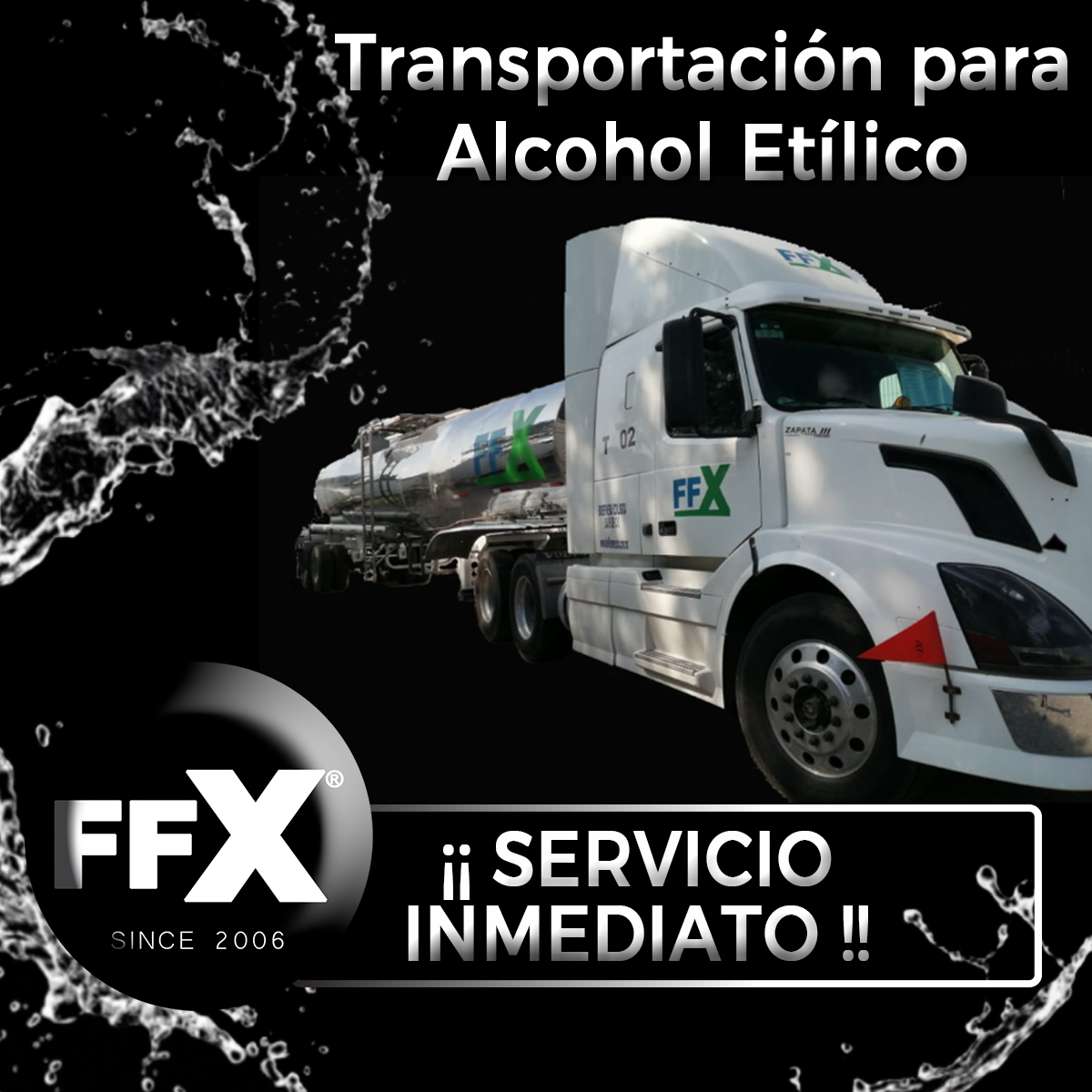Alcohol etílico, Gel antibacterial, FFX Since 2006 Fuel Flex México